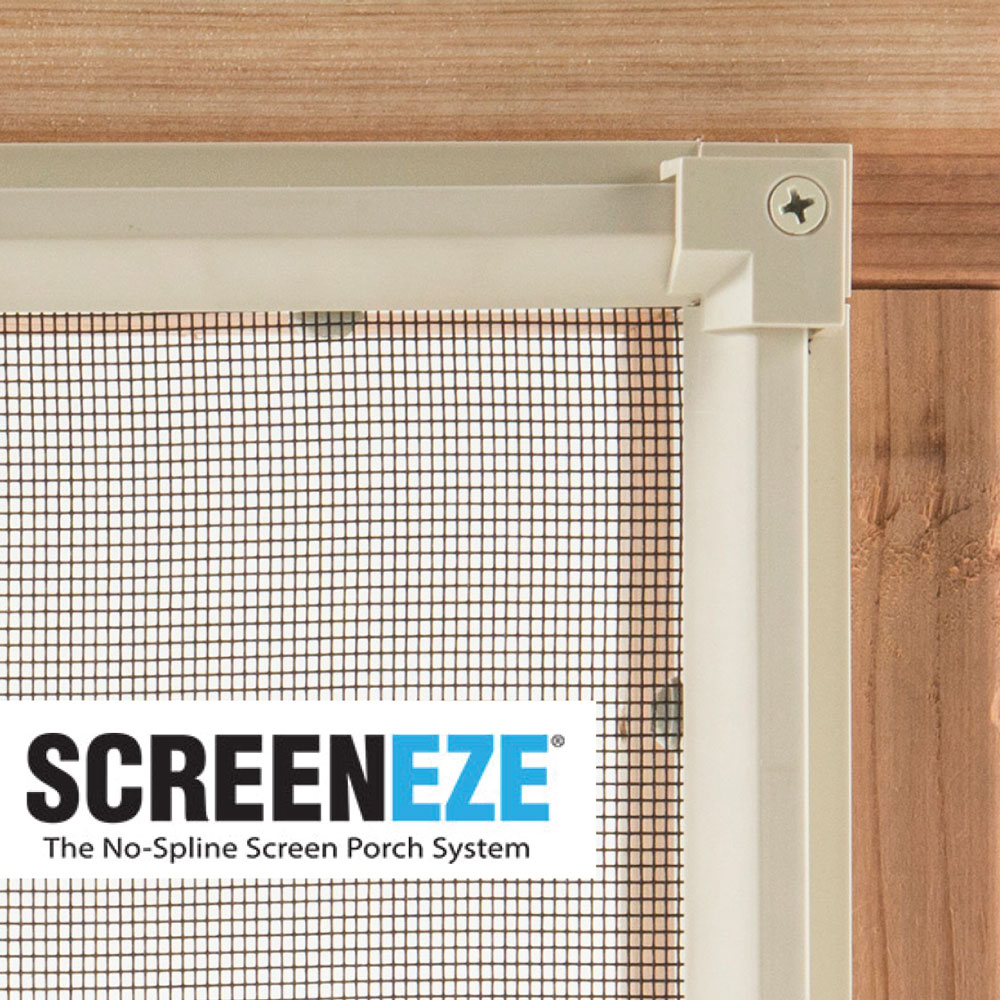 Screeneze The no-spline screen porch system