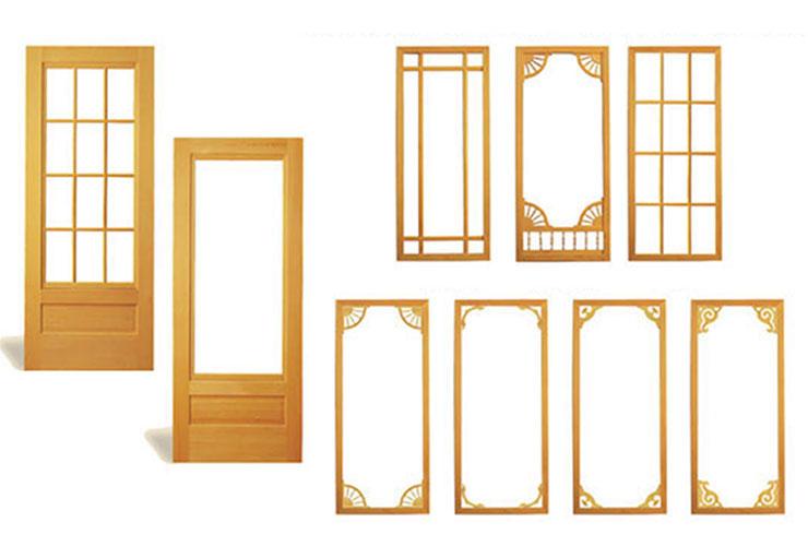 Wood Storm Doors